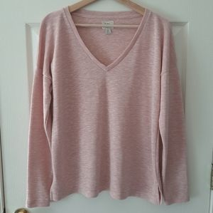 J Crew Pink Space Dyed V Neck T Shirt Size Medium